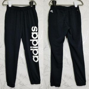Adidas Black High Rise Joggers w/ Big Spellout